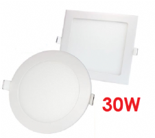 Recessed LED Panels 30W Round and Square